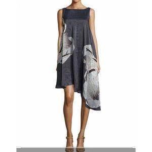 Tibi Midori Silk Asymmetric Dress